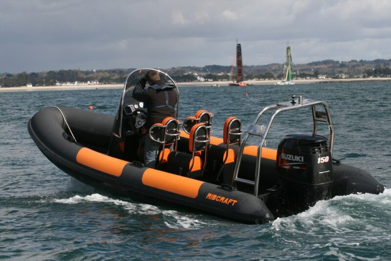 Ribcraft 5.85 PRO Black and Orange RIB